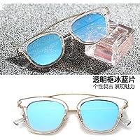 GGCCX Occhiali Da Sole Joker Occhiali Da Vista Occhiali Montature Unisex Piatto Specchio Con Cornice , A