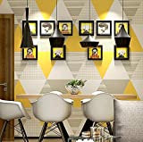 KYXXLD Papier Peint de Style Nordique la géométrie Moderne Minimaliste Places Salle de séjour Chambre à Coucher télévision Fond Papier Peint Jaune Vif,