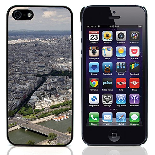 Graphic4You Paris At Night Skyline View Postkarte Ansichtskarte Design Harte Hülle Case Tasche Schutzhülle für Apple iPhone 5 und 5S Design #3