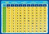 mindmemo - Das 1x1 Mathe Lernposter Grundschule einfach EinMalEins lernen Multipliziertabelle 1mal1 Mathematik Lernhilfe Poster DIN A2 42x59 cm PremiumEdition in Transportrolle