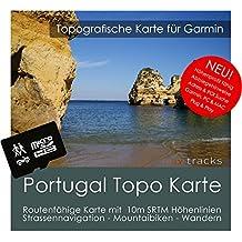 Portugal Garmin tarjeta Topo 4GB MicroSD. Mapa Topográfico de GPS Tiempo Libre para Bicicleta Senderismo Excursiones Senderismo Geocaching & Outdoor. Dispositivos de Navegación, PC & Mac