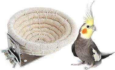 Peng Sheng Handgefertigtes Vogelnest aus Baumwollseil für Wellensittiche, Nymphensittiche, Kanarienvögel, Taube, Liebe, Vogelkäfig, Sitzstange, Brutkasten