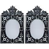 MADHUSUDAN GLASS WORKS Mirror & Plywood Wall Mirror (Pack Of 2, Silver) - B07BJ4CXFK