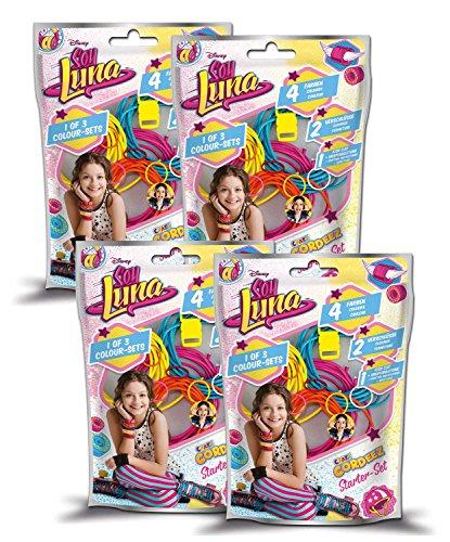 CRAZE Disney Soy Luna DIY Kinder Armbänder Bunte Bänder zum selber Machen flechten 00199 Cordeez, Sortiert