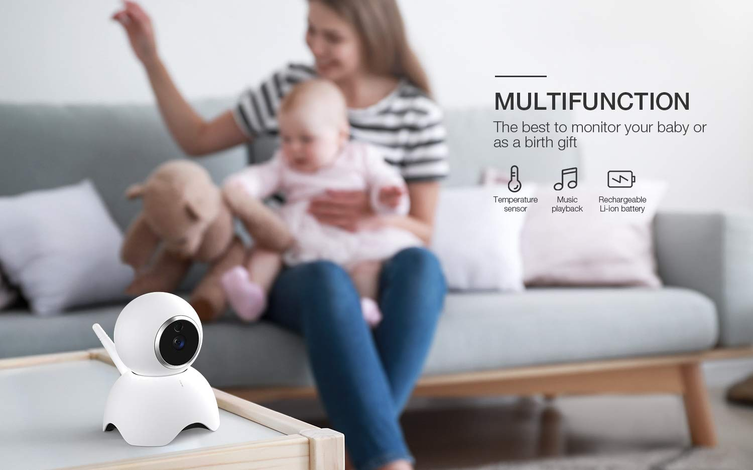 Baby Monitor, BOIFUN Baby Video Camera with 5'' 1280x720P HD Screen 2000mAh Rechargeable Battery with VOX Night Vision Temperature Monitor Two-Way Talk 355 Degree Remote Control Camera Baby/Elder/Pet BOIFUN Sleep Mode & Night Vision----In Sleep mode, The screen on the mother unit is black. Screen will light up when baby starts crying. Night vision distance is 5 meters, so you will never miss any moment of your baby, and it frees yourself from the hustle and bustle. You will be able to have your own time to read, watch TV, or even enjoy a couple of drinks with your husband. Bring you lots of fun. 2000mAh Battery----2000mAh high-capacity battery (mother unit), lasts up to 6 hours with full functions, and 20 hours in sleep mode, from testing results. Let you have longer time get rid of the shackles of the wires. Bring you longer time of fun. 300Meters Extra-Large Range----300m signal coverage area (outdoor test) allows you to cook happily downstairs, enjoy the sun in the pool, or even have a relaxing BBQ time with friends in terrace. Bring you bigger fun. 8