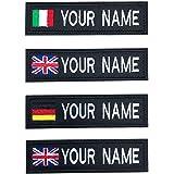 Brillianne Toppe con Nome Bandiera Ricamate Personalizzate, Toppa Personalizzata con Nome da Motociclista Militare per Giubbo