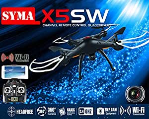 Syma X5SW/X5SW-1 Explorateurs-II noir FPV 2,4 G RC Drone Quadcopter 2MP Wifi caméra