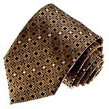 Lorenzo Cana - Luxus Marken Krawatte aus 100% Seide - handgefertigte Seidenkrawatte - braun schwarz grau Punkte Karos - 77092