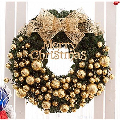 clg-fly Golden ghirlanda di Natale ornamenti decorazioni di Natale 40cm