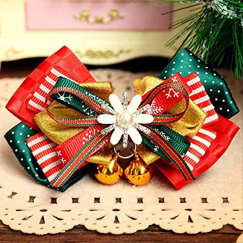 KWOSJYAL Animaux De Compagnie Papillon Noël Papillon Collier De Clochette Collier Chien Petit Chien Chat Teddy Cloche D