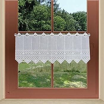 Scheibengardine 2001 Höhe 50 cm: Amazon.de: Küche & Haushalt