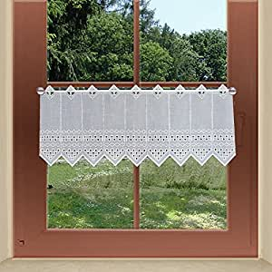 scheibengardinen von kollektion mt kurzgardine feenhausgardine kayla plauener spitze wei. Black Bedroom Furniture Sets. Home Design Ideas