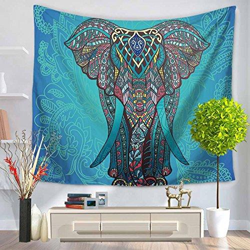 andala-Bunte Elefant Bedruckte Tapisserie-Wand-hängende Strand-Wurfmatte Hippie-Bettdecke-Yoga-Matten-Decke, 150cmx130cm, O30 ()