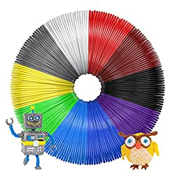 3d Printing Pen Filament, Gvoo 10 Colours Pla 3d Pen Printing Material Refills 1.75mm5m (Total 50m164ft) For Polaroid, Nextech, Soyan, Lapond, Amzdeal Intelligent 3d Pen