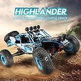 Dailyinshop JJR / C Q39 RC Auto Highlander 1:12 4WD RC Desert Truck Schnelle Geschwindigkeit Off Road Cars, blau & schwarz