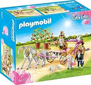 PLAYMOBIL- Carruaje Nupcial Juguete, Multicolor (geobra Brandstätter 9427)