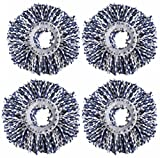 #7: Royal Export Microfiber Spin Mop Refill (White, Pack of 4)