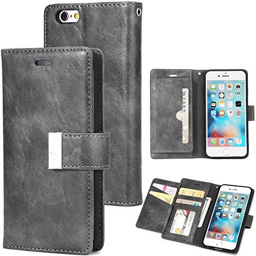 iPhone 6 Plus iPhone 6s Plus - Protective Cover Surface Leather Case/Cover / Bumper/Skin / Cushion - Fashion Art Collection (Grey)