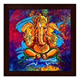 #5: Story@Home Artistically Designed  'Ganesha' Framed Wall Art Painting (Wood, 30 cm x 3 cm x 30 cm)