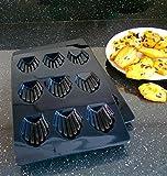 Madeleine backform für 9 Madeleines. 1 x 1 GRATIS. Dickes extrarobustes Silikon Kochgeschirr von höchster Qualität.