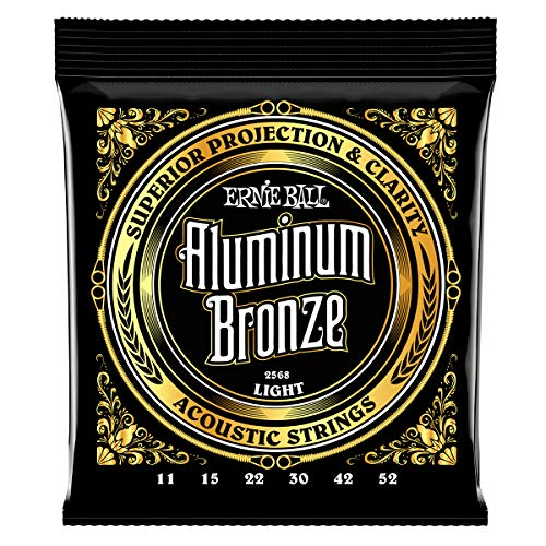 Ernie Ball Light Aluminium Bronze Akustikgitarre Saiten - 11-52 Gauge