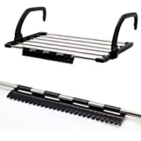 QUICK UNBOX Foldable Stainless Steel Clothes Drying Rack, Cloth Dryer Stand for Balcony, Window, Guardrail, and Corridor…