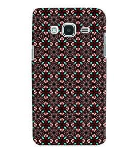 Printvisa Brown Diamond Pattern Back Case Cover for Samsung Galaxy J2 (2016)