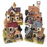SKNSM Lustig Mini Puppenhaus Schloss, Puppenhaus Miniatur Kit Garten Puppenhaus Micro Landschaft DIY Mini Schloss Modell Spielzeug Dekoration Geschenk als Geschenk