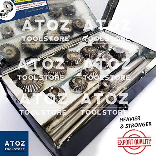 ATOZ Ventilsitzfräser Satz mit Messern für Oldtimer und Motorräder Erstbezug Cutter (Satz mit 10 Messern/Cutter)