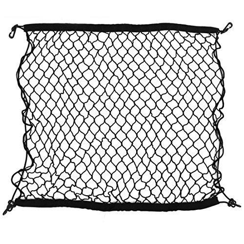 sourcingmap® Auto schwarz Nylon Gepäcknetz Sicherungsnetz Kofferraum elastisch 100cm x 100cm DE de