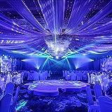 Rollo de organza de 10 m, tela de gasa, funda para silla o camino de mesa, para decoración de bodas, fiestas, azul, 10 m