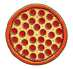 Bigmouth Inc Strandtuch In Form Einer Pizza, Polyester, Mehrfarbig, 152X 152X 1Cm
