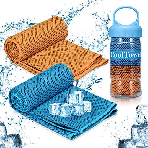 Asciugamano rinfrescante, itrunk assorbimento rapido del sudore, asciugamano per raffreddamento istantaneo, asciugamano sportivo ghiacciato, mantiene fresco yoga viaggi, arrampicate, golf e sport all'aperto