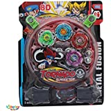 Kids Play Beyblade Toy Set With Ripchord Launcher (4 Blade) (BeyBlade)