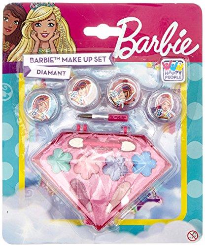 Happy People 52013 Barbie Schminkset Diamanten Look, für Mädchen, zum Aufklappen, Make-Up Zubehör