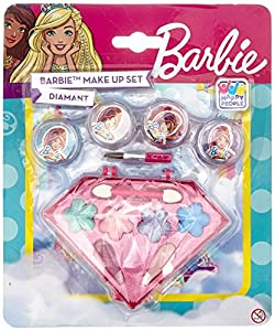 Happy People 52013Diamantes Barbie Makeup Set de Accesorios para Look para niñas, Rígida, Make Up
