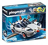 Playmobil Agentes Secretos-9252 Racer, Color Blanco (9252