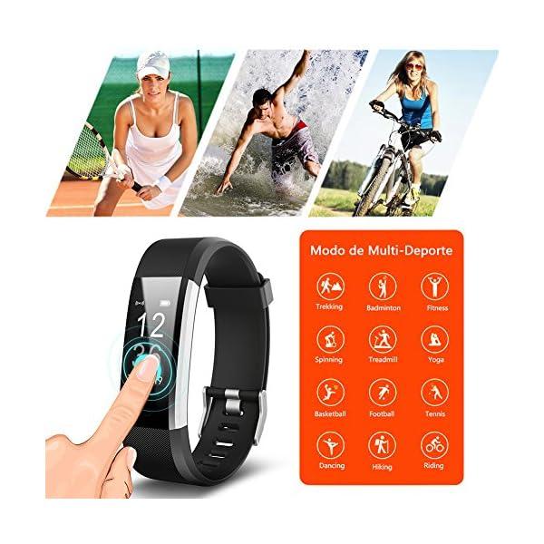 BANLVS Pulsera Actividad, Pulsera Inteligente con 14 Modos de Deporte, GPS Pulsómetro Monitor de Ritmo Cardíaco Sueño… 6