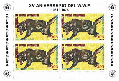 world-wildlife-fund-15th-anniversary-foglio-di-francobolli-per-collezionisti-tazmanian-devil-blocco-