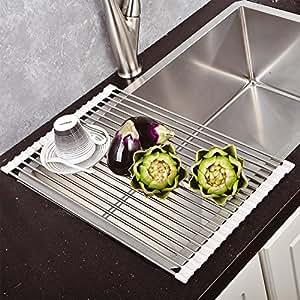Top home solutions scolapiatti da mettere sopra il for Top cucina amazon