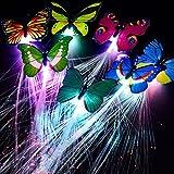 LED Lumières Cheveux avec Papillon Party Favors pour Party Bar Danse Multicolore Flash Barrettes Clip Tresse 2 Pcs