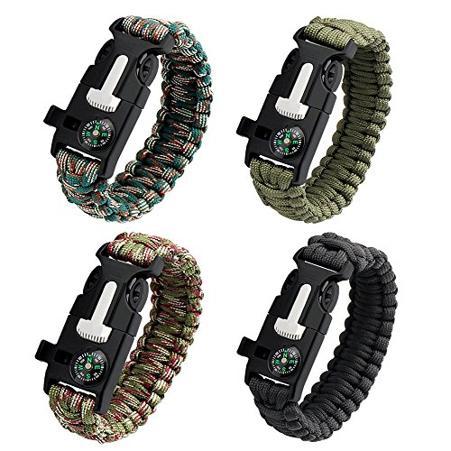 4pcs-survival-braceletpalady-adventure-paracord-survival-bracelet-includes-fire-startercampasswhistl