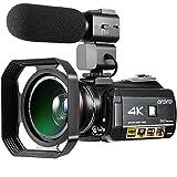 Colorful 4K Camcorder, ORDRO HDR-AC3 Ultra HD 3.0 Zoll IPS Touchscreen Wifi Digitale Videokamera 30X Digital Zoom Nachtsicht Camcorder mit Mikrofon Weitwinkelobjektiv Gegenlichtblende
