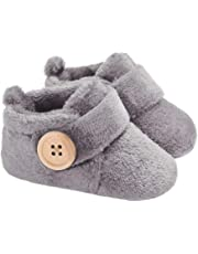FemmeStopper Baby Boy Baby Girl Wooden Button Baby Shoes