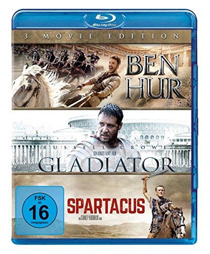 Ben Hur / Gladiator / Spartacus [Blu-ray]
