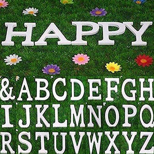taglia unica Lettere dell/'alfabeto in legno Bodhi2000 Legno A decorazione per matrimonio colore bianco compleanno e arredo casa