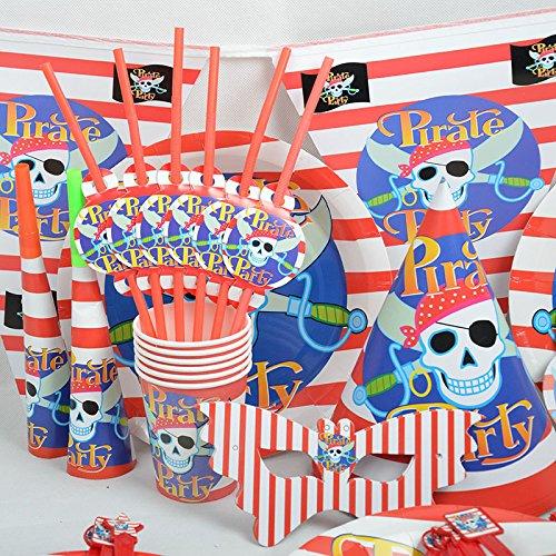 MH-RITA 72 Stk Einweg Kids Event Party Geschirr Teller Wimpel Servietten Set Schergen Thema Partei Einmalgeschirr (Dekoration Schergen)