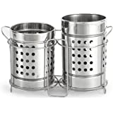 Zero To Infinity Store Stainless Steel Spoon Stand/Cutlery Holder ( combo pack of 2 ) big size