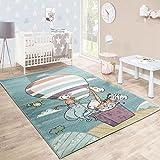 Tappeto Per Bambini Stanza Dei Giochi Caos Animali Zoo Pallone Giocoso Colorato, Dimensione:80x150 cm
