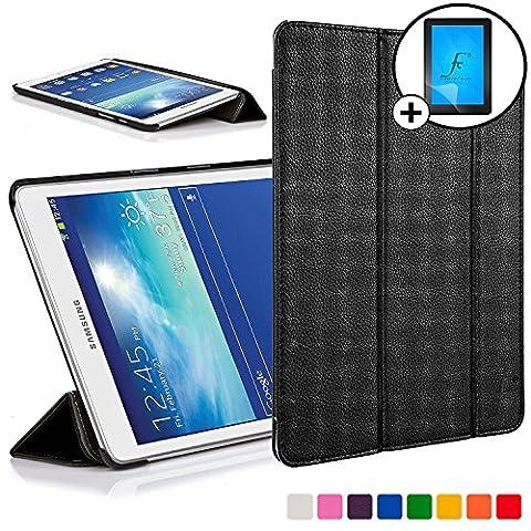 Forefront Cases® Neue Leder Hülle / Tasche / Case / Cover für Samsung Galaxy Tab 3 Lite 7.0 T110 - Rundum-Geräteschutz und intelligente Auto-Sleep-Wake-Funktion mit 3-JAHRES-GARANTIE VON FOREFRONT (Hülle Für Galaxy Tab 3)